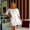 SALE! CAVARICCI Suknia bawełna haftowana S-77 XXL/XXXL BIAŁA