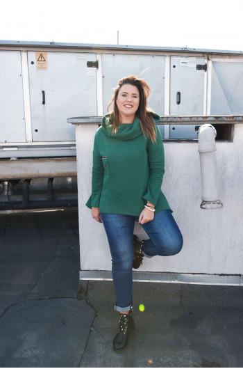 BL-05 Bluza Gruba Dresowa Ciepła Plus Size