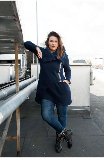 Bluza Dresowa Czarna Ciepła Plus Size BL-06