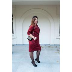 CAVARICCI Sukienka Ołówkowa Dekolt Sg-21