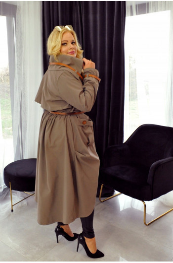CAVARICCI Płaszcz Vintage Style Trencz Pv-1