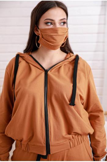 D-05 komplet dresowy bluza oversize taśma cavaricci mega look