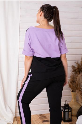 D-04 dres w kolorze liliowym