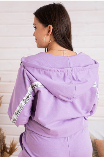 D-05 dres z taśmą cavaricci w kolorze liliowym