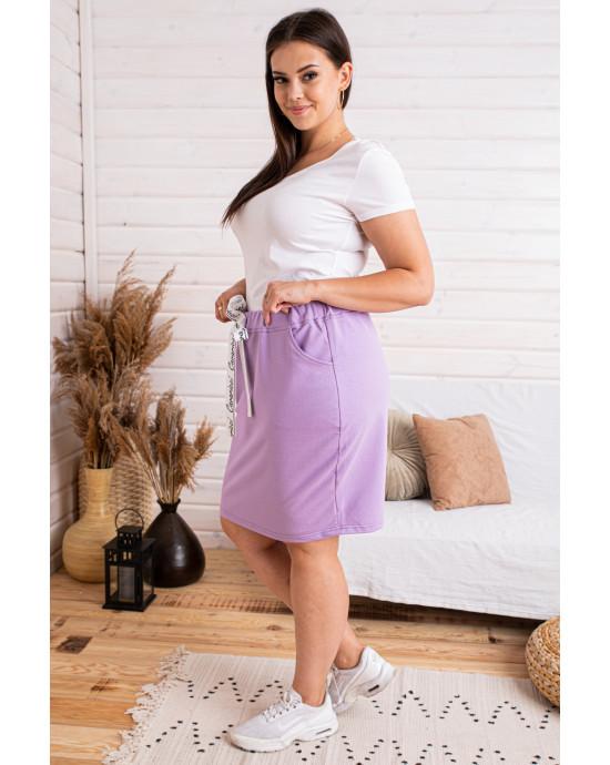 Dresowa spódniczka w kolorze liliowym