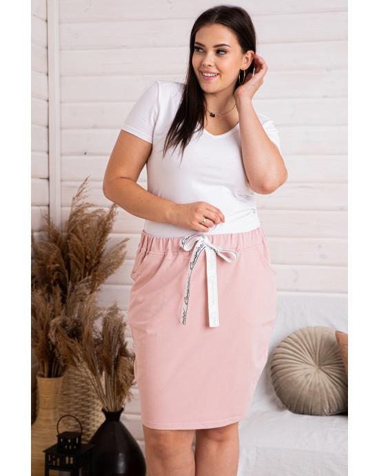 Dresowa spódniczka w kolorze brudnego różu