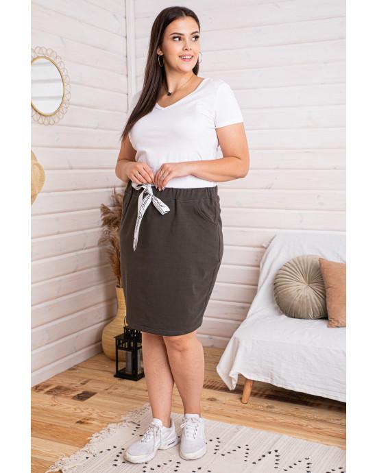 Dresowa spódniczka w kolorze khaki