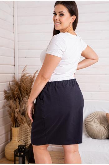 Dresowa spódniczka w kolorze granatowym