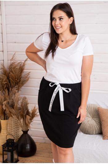 Dresowa spódniczka w kolorze czarnym
