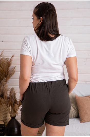 Krótkie spodenki dresowe w kolorze khaki