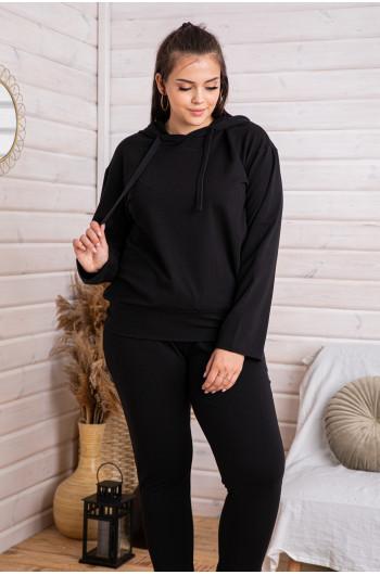 D-06 dres z bluzą z kapturem w kolorze czarnym