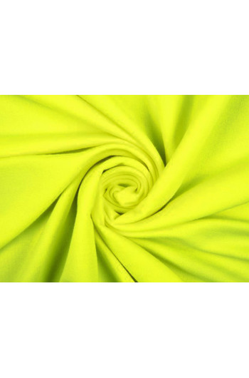 Tkanina - wysokogatunkowa dzianina wiskoza neonowy żółty