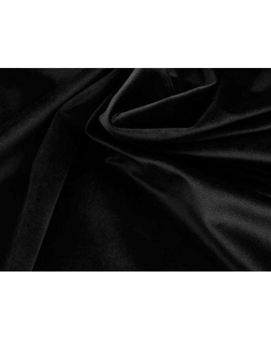 Tkanina - welur aksamitny czarny