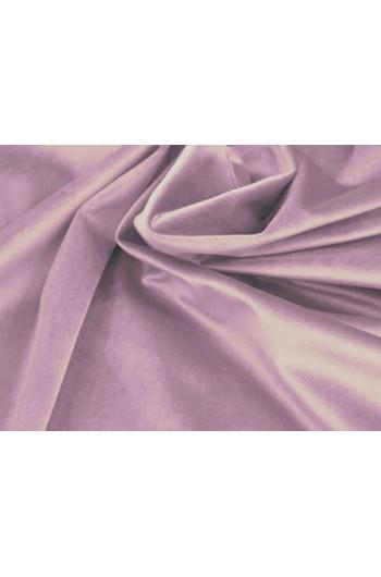 Tkanina - welur aksamitny liliowy
