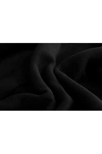 Tkanina - dresówka drapana czarna