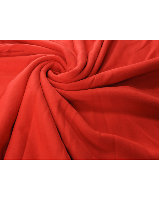 Tkanina - dresówka drapana czerwona