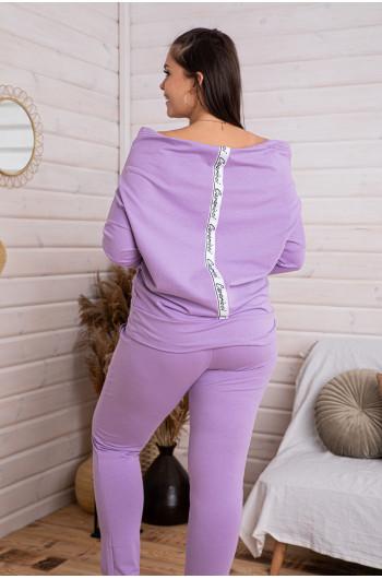SALE! spodnie gładkie liliowe