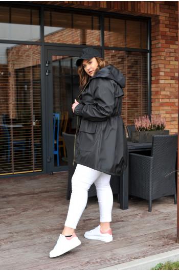 Kurtka parka super rękaw trendy nowe kolory czarna k-13n