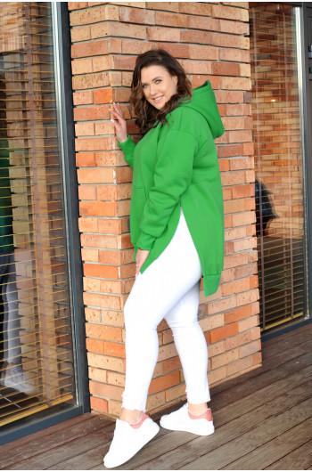 Zielona ciepła bluza...