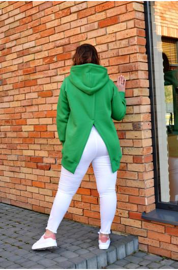 Bluza z rozcięciem na plecach BL-02 zielona