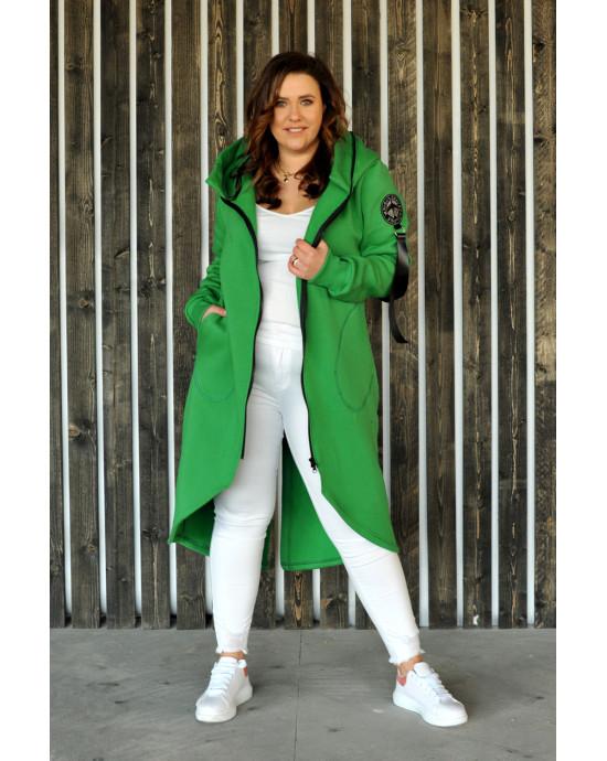 Asymetryczna bluza w kolorze soczystej zieleni BL-01