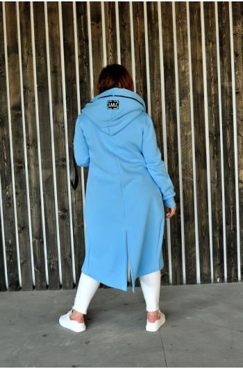 Nietuzinkowa bluza Cavaricci w kolorze błękitu BL-01