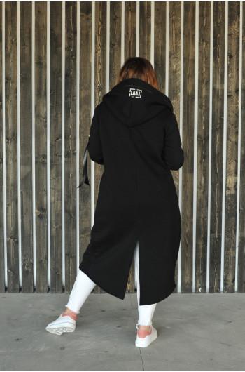 BL-01 bawełniana długa bluza w kolorze czarnym