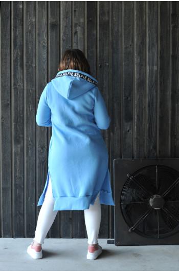 Sportowa bluza w kolorze błękitu BL-11