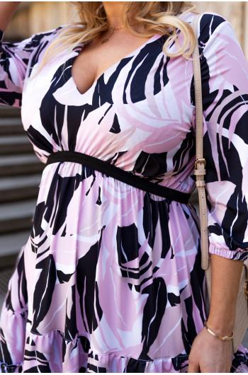 Przepiękna trapezowa sukienka S-47 wiosenna