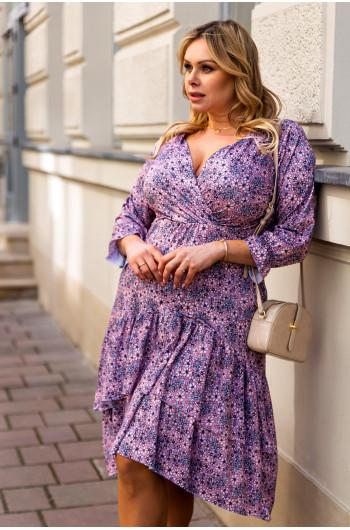 Sale! Asymetryczna zwiewna sukienka S-42 urocza