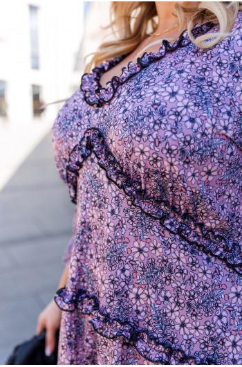 Sale! Efektowna S-43 trapezowa sukienka