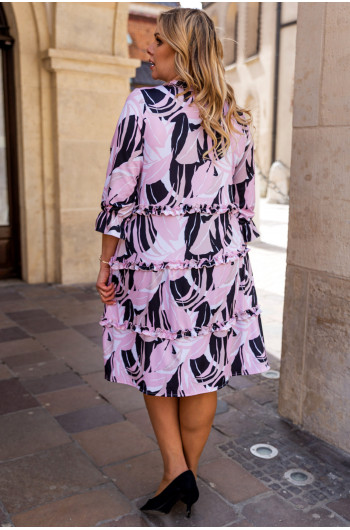 SALE! Trapezowa sukienka S-43 wiosenna