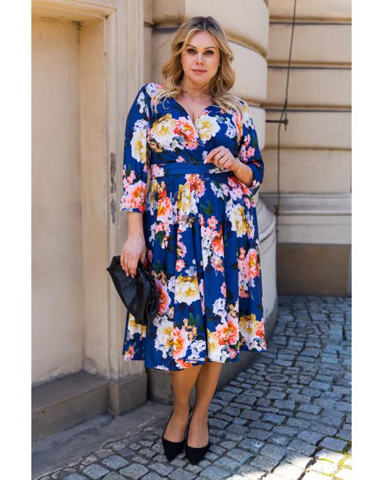 SALE! Wyszukana sukienka wiosenna S-44 zjawiskowa