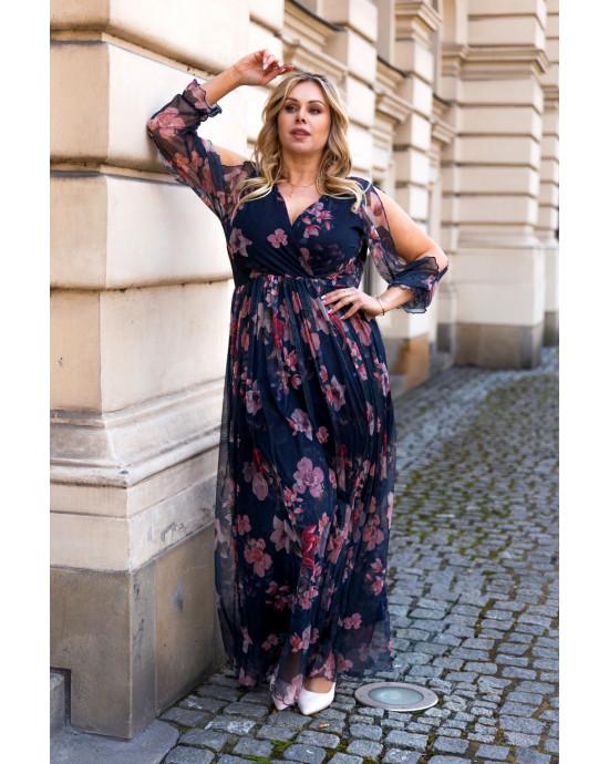 Cudowna sukienka Maxi z siateczki S-45 urocza