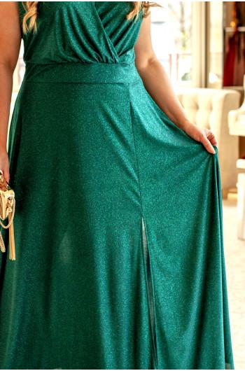 Znakomita sukienka w butelkowej zieleni Q-02
