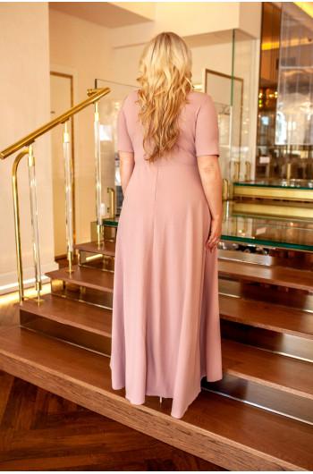 Doskonała suknia na wesele plus size, asymetryczna Q-11